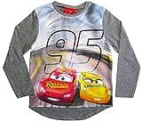 Cars Disney 3 Langarmshirt Lightning McQueen Jungen (Grau, 116)