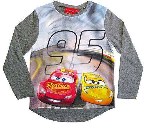 Cars Disney 3 Langarmshirt Lightning McQueen Jungen (Grau, 98-104)