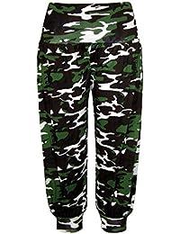 9526d3fc3f50 Body2Body Neuf pour Femmes Longueur 3 4 Court imprimé Camouflage Ali Baba  Pantalons de Harem