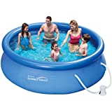 Summer Waves Fast Set Quick Up Pool + Pumpe 305x76cm Swimming Pool Familien Schwimmbad mit Filterpumpe