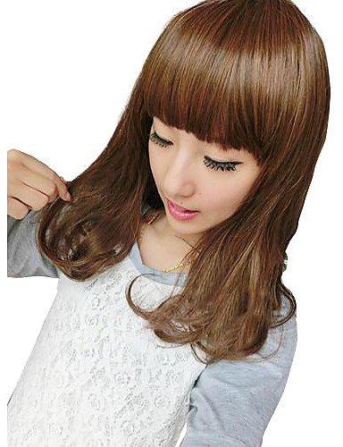 Femmes synthétique cheveux bouclés Bang Perruques complet