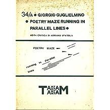 Poetry maze running in parallel lines