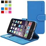 Snugg® iPhone 6 Flip Case - Leather Wallet Case with Lifetime Guarantee (Electric Blue) for Apple iPhone 6