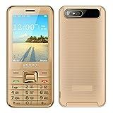 Mobiltelefon Gerade 2,8 Zoll 4 SIM-Karte 4 Standby Bluetooth Taschenlampe MP3 MP4 GPRS Großer Bildschirm Lange Standby , gold (english edition)