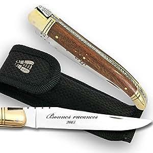Couteau laguiole manche bois de palissandre dans un tui for Etui couteau cuisine