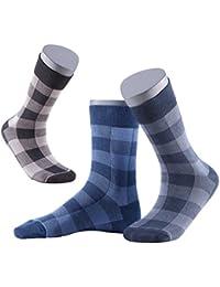 Gatta Perfect Man Herrensocken - 6er Pack - dunkelblau grau schwarz karierte Socken für Männer - hoher Baumwollanteil