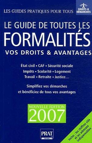 Le guide de toutes les formalités par Editions Prat