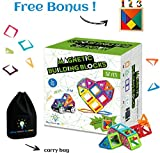 Magnetic Building Blocks for Kids | Educational Toys for Boys and Girls | Magnets Construction Tiles For Children | Build Models with Genius Magnet Kits | Different Shapes and Colors | 82 pcs Set