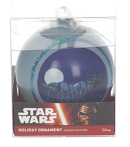 Star Wars Trineo AT Bola de Navidad, Blanco, 8x8x8