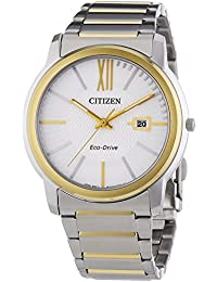 Citizen Eco-Drive Analog White Dial Men's Watch - AW1214-57A