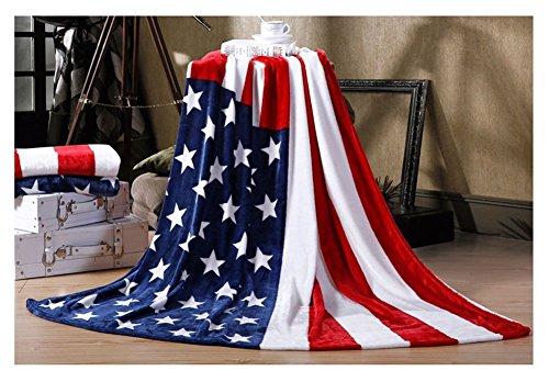 Trendige Flauschige Kuscheldecke Tagesdecke Weiche Flanell Wohndecke Bettdecke Blankets 200x150CM für Herren Damen Kinder Baby Schlafzimmer Sofa Auto, Amerikanische Flagge (Herren-usa-amerikanische Flagge)