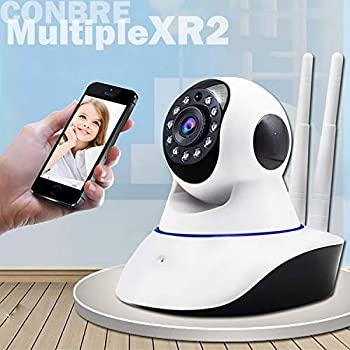 Conbre MultipleXR2 V380 Pro Home and Office Ultra HD 720P IP CCTV Smart Security Camera with WiFi Wireless Connectivity and Support 64Gb Sd Card