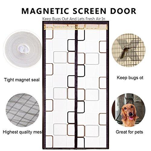 DULPLAY Wärmeisoliert Magnet fliegengitter tür, Vorhang Halten Sie Insekten und mücken mit magneten Tür Vorhang Auto näher-A 100x200cm(39x79inch)