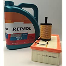 Pack Repsol elite TDI 5w40 505 01 + filtro aceite y Aire para motores Volkswagen /