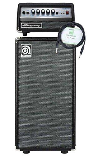 """Ampeg SVT Micro-VR Head und Ampeg SVT-210AV Bass Box Set (Topteil mit Leistung: 200 Watt an 4 Ohm, Bass Cabinet mit 2x 10"""" Custom Eminence Speaker, inkl. Boxenkabel)"""