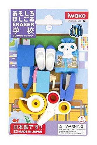 Iwako Radiergummi Schulsachen 7 Stück Set