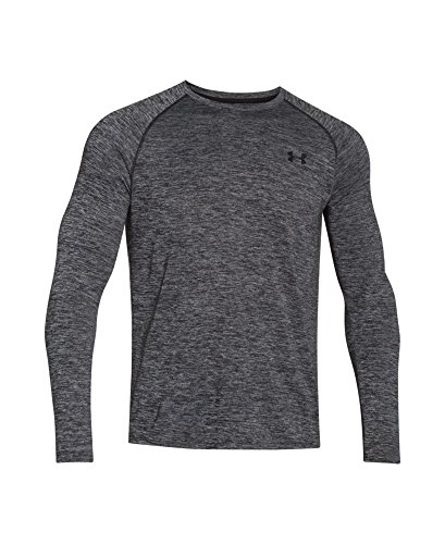 Under Armour Herren UA Tech LS Novelty Tee Langarmshirt, Black, M (Ua Tech T-shirt)