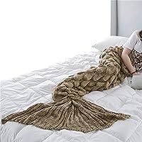 GODGETS Manta de Cola de Sirena Hecho a Mano de Punto Cálido sofá Cama Sala de