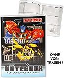 Unbekannt Hausaufgabenheft -  Transformers - Robots - Bumblebee  - für Faule - ohne Vortragen der Stunden ! - Schule - incl. Schutzhülle & bunten Seiten - für Jungen ..