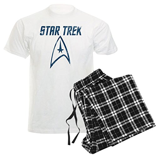 CafePress Vintage Star Trek - Unisex Novelty Cotton Pajama Set, Comfortable PJ Sleepwear