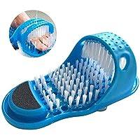 Magic Feet Cleaner Bathroom Exfoliante Dead Skin Scrub Masajeador Con Pinceles,Blue,11.02 * 4.53In