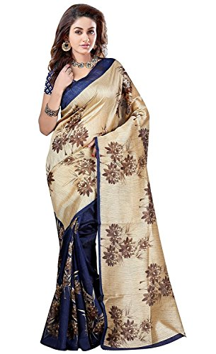 Sarees (Nisha Creation New Fancy Designer Sky Blue Coloured Bhagalpuri Saree With Blouse Piece)  available at amazon for Rs.299