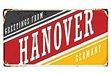 Fußmatte Stadt Hannover Deutschland bedruckt 99x55 cm