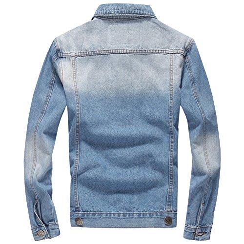 Glestore Jacken Jeans Retro Mode XS-3XL 2Blau