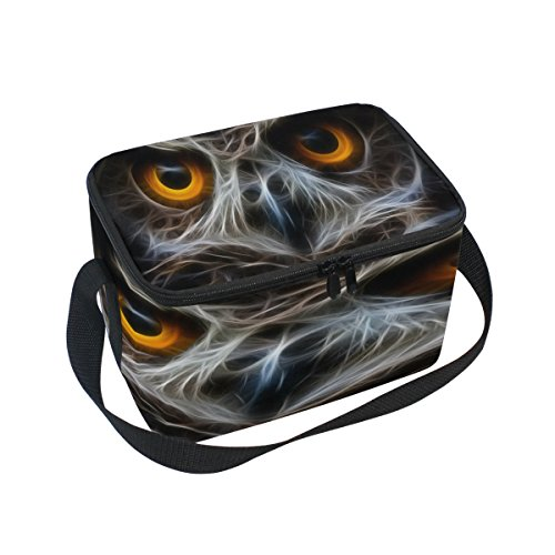 Use7 Halloween Eule Abstrakt Isolierte Lunch Bag Tasche Cooler Lunchbox für Picknick Schule Frauen Herren Kinder
