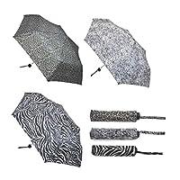 Ladies Foldable Travel Umbrella - Zebra/Leopard/Snakeprint - 1piece
