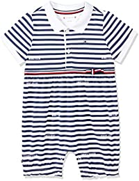 78220eae3 Tommy Hilfiger Baby Girl Stripe Shortall S/S Footies