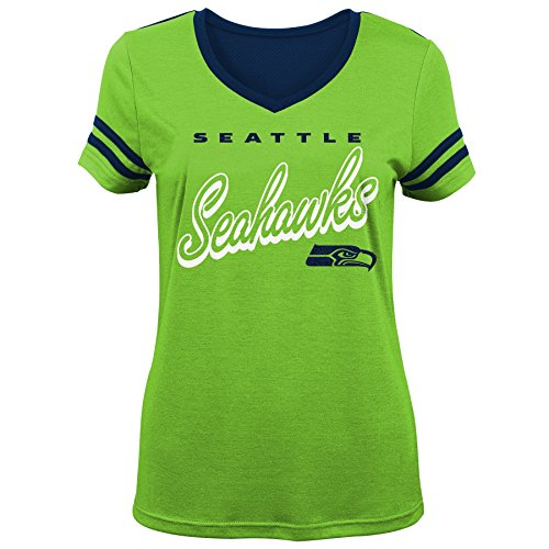 NFL by Outerstuff NFL Seattle Seahawks Mädchen Sound Wave Short Sleeve Action Green XL (16)