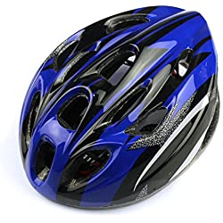 Longra Respiraderos Deportes para Adultos camino de la montaña en bicicleta Bicicleta Casco (Plata)