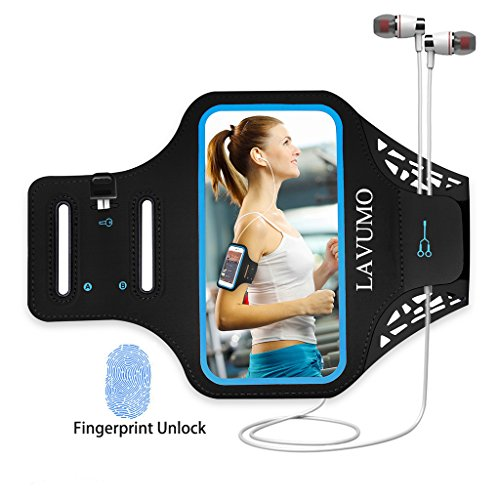 """Sport Armband Handy for iPhone 7 6 6s 8 Joggen Laufen Gym Armtasche LAVUMO Waterproof Wristband Resistant with Key Pocket & Small Money für Samsung Galaxy a3 HTC ONE X iphone SE 5S 5 5C 5 Unter 4.7"""""""