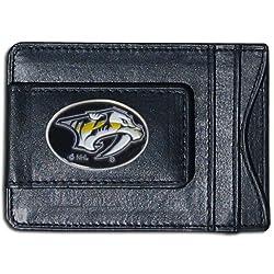 NHL Nashville Predators Genuine Leather Cash and Cardholder