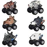 Dreamingbox Spielzeug Junge 2-12 Jahre, Dinosaurier Autos für Kinder Spielzeug für Mädchen 2-6 Jahre Jungen Geschenke 4-8 Jahre Geschenke für Mädchen 2-12 Jahre Tier 6 Packungen