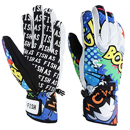 Xueliee professionale termico invernale guanti da sci impermeabile/cool-resistant snowboard guanti da uomo e da donna