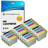20 XL Tintenpatronen kompatibel zu Epson T0711-T0714 (T0715) für Stylus D78 D92 D120 DX400 DX4000 DX4050 DX4400 DX4450 DX5000 DX5050 DX6000 DX6050 DX7000 DX7400 DX7450 DX8400 DX8450 DX9200 DX9400F DX9