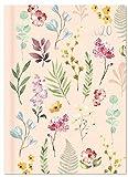 Cards Galore 2019 Terminplaner mit Wochenansicht, PU-Leder, Blau mit rosa gelben Blumen und...