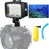 Orsda� Ultra Bright 1800LM 3 Modi Wasserdicht Unterwasser 40m 5500K 60pcs LED Tauchen Fill-in Light Video-Studio-Foto-Lampe 2 * 2000mAh Batterie 18650 +Auftriebsstange OR005F Bild