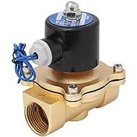 Messing Air Gas Wasser kupfer Magnetventil,Akozon DC12V R1 DN25 elektrisches magnetisches normales geschlossenes Zink-Legierungs-Magnetventil für Wasser-Luft-Öl