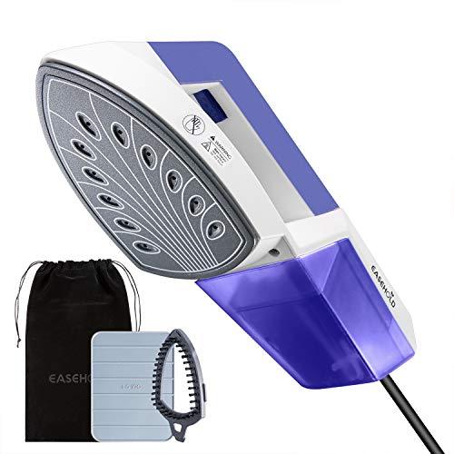 Plancha de Ropa Vapor Vertical 1150W, EASEHOLD Vaporizador Portátil con Panel Termostático de Cerámica Vertical y Horizontal 2 en 1, 30s calentamiento, Eliminar las Arrugas, Hogar & Viajes, Azul