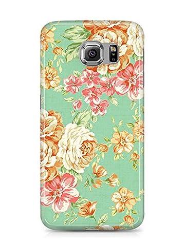 COVER MINT Flower Blume Floral Handy Hülle Case 3D-Druck Top-Qualität kratzfest Samsung Galaxy S6