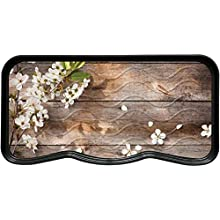 Nicoman Boot Shoe Tray Rack Mat Printed FLOWERS and WOOD(2-Pack)