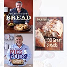 paul hollywood 3 books collection set - paul hollywood's bread, paul hollywood's pies and puds, 100 great breads[paperback]
