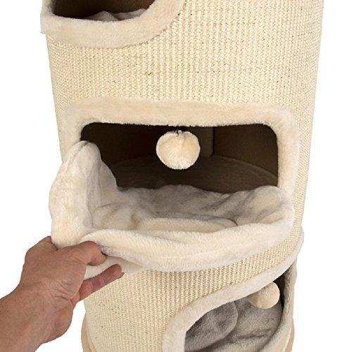 Katzen-Kratztonne, mit 4 Schlafbereichen, Stoffart: Sisal, XXL-Größe - 3