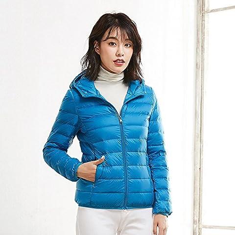 Xuanku Lightweight Down Jacket, Short Sleeve, Extra Thin Coat,Xxxl,Sapphire A