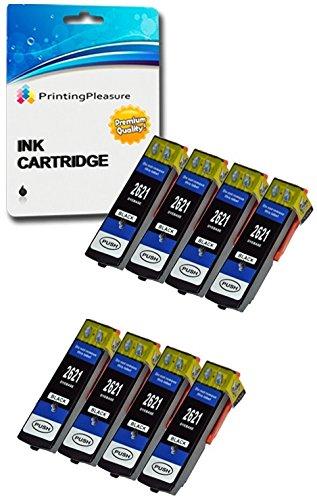 8 Compatibili 26XL T2621 Cartucce d'inchiostro per Epson Expression Premium XP-510 XP-520 XP-600 XP-605 XP-610 XP-615 XP-620 XP-625 XP-700 XP-710 XP-720 XP-800 XP-810 XP-820 - Nero, Alta Capacità