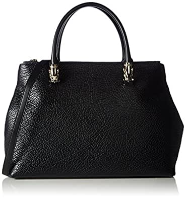 Cavalli Women's Handbag Pantera OhMyGold 003 Top-Handle Bag Black Schwarz (Black 999)