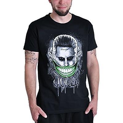 T-shirt Suicide Squad Joker Smile Elbenwald noir